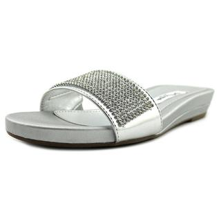 Nina Women's 'Bently' Silver Synthetic Sandals