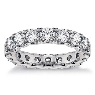 Platinum 3 1/10 - 3 2/3ct TDW Round Diamond U-shape Eternity Band (G-H, SI1-SI2)