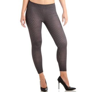 Juniors' Ankle Length Polka Dot Leggings