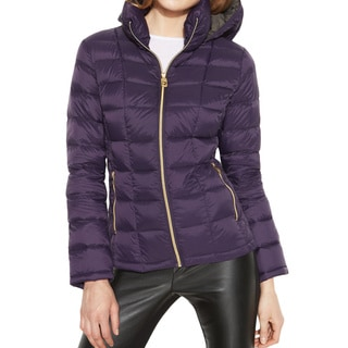 Michael Michael Kors Women's Purple Hooded Down Packable