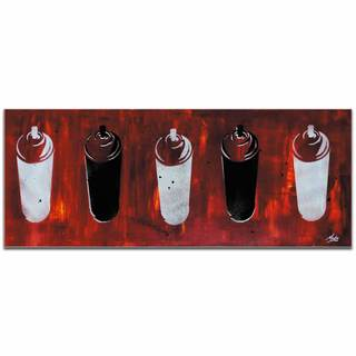 Mendo Vasilevski 'Graffiti Homage in Red' Contemporary Wall Art Giclee