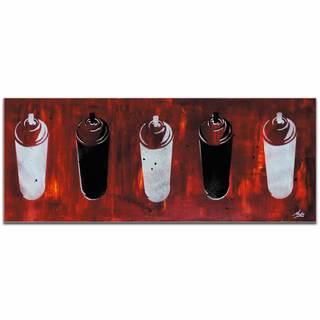 Mendo Vasilevski 'Graffiti Homage in Red' Contemporary Wall Art Giclee