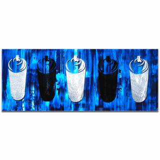 Mendo Vasilevski 'Graffiti Homage in Blue' Contemporary Wall Art Giclee