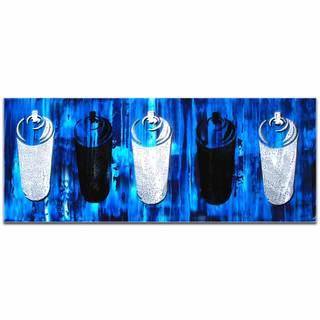 Mendo Vasilevski 'Graffiti Homage in Blue' Contemporary Wall Art Giclee