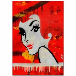 Mendo Vasilevski 'Flaming Redhead' Australian Pop-Art Painting Giclée