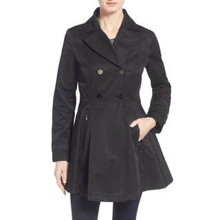 Laundry By Shelli Segal Black Skirted Trench Coat|https://ak1.ostkcdn.com/images/products/11707832/P18630657.jpg?impolicy=medium