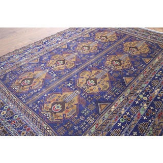 Hand-knotted Balouch Tribal Navy Wool Rug (6' 11 x 9' 8)