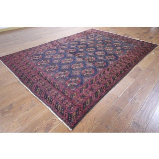 Hand-knotted Tribal Afghan Wool and Wool Rug (6' 10 x 9' 9)