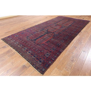 Hand-knotted Tribal Balouch Red Wool Rug (5' 8 x 12' 0)