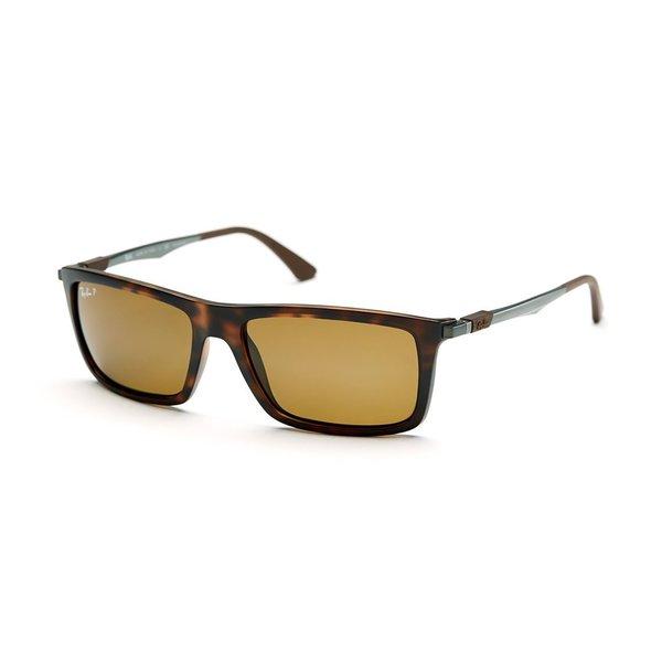 9630b4e9a4 Ray-Ban RB4214 609283 Unisex Tortoise Gunmetal Frame Polarized Brown Classic  Lens Sunglasses