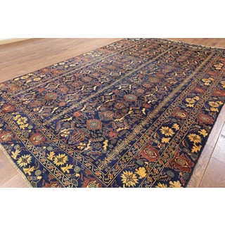 Hand-knotted Tribal Balouch Blue Wool Rug (8' 0 x 12' 7)