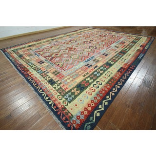 "Hand-knotted Flat Weave Reversible Kilim Wool Rug (12' 2"""" X16' 0)"