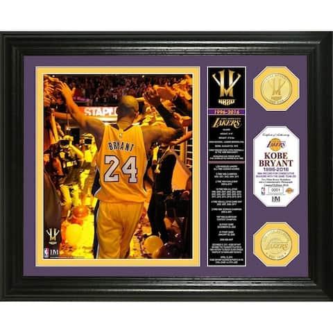 "Kobe Bryant ""Final Season"" Banner Bronze Coin Photo Mint"