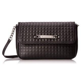 Calvin Klein Quilted Pebble Leather Shoulder Bag