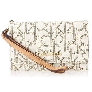 Calvin Klein Monogram Camel Smartphone Wallet