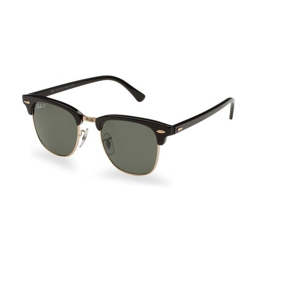 2cb09fa27d Ray-Ban RB3016 901 58 Clubmaster Classic Black Frame Polarized Green  Classic 49mm Lens