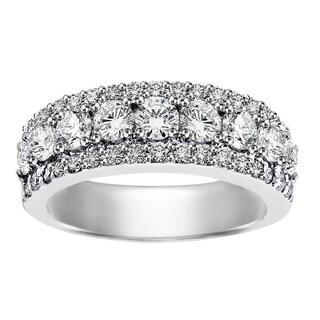 Platinum 2ct TDW Round Diamond Wedding Band