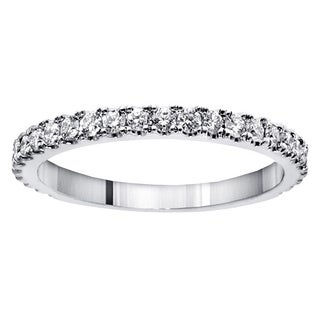 Platinum 5/8ct TDW Round-cut Diamond Wedding Band (G-H, SI1-SI2)