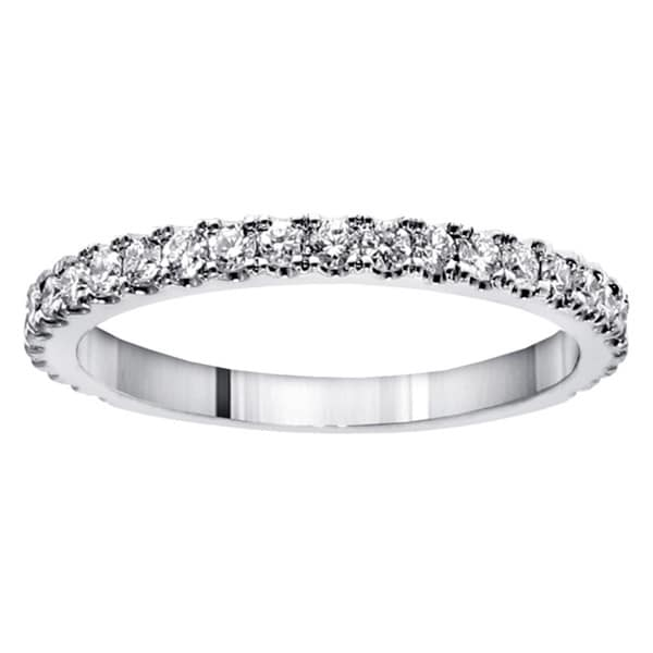 Platinum 5/8ct TDW Round-cut Diamond Wedding Band