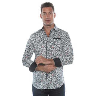 Isaac B. White/ Black Long Sleeve Button Down Shirt