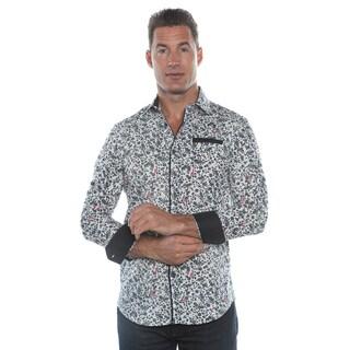Isaac B. White/ Black Long Sleeve Button Down Shirt