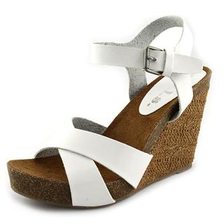 r.b.l.s. Women's 'Bianca' Faux White Leather Sandals