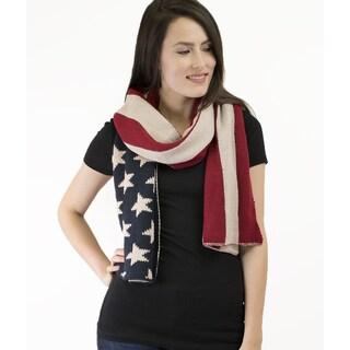 Le Nom American Flag Knitting Muffler Scarf