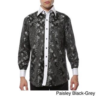 Ferrecci Men's Satine Paisley or Geometric Dress Shirt