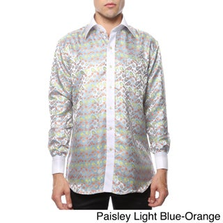 Ferrecci Men's Satine Paisley or Geometric Dress Shirt (More options available)