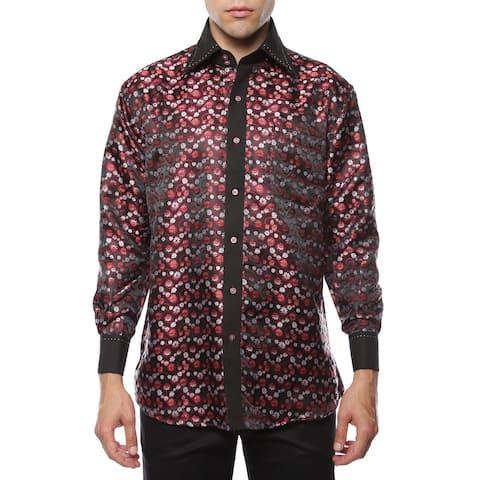 8cb845c7dcefb Ferrecci Men's Satine Paisley or Geometric Satine Microfiber Dress Shirt