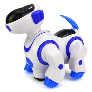 Velocity Toys Robo Dancing Dog Battery Operated Kid's Bump and Go Toy (Blue)