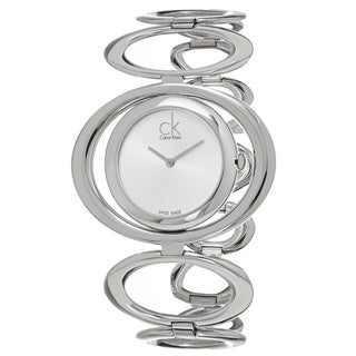 Calvin Klein Women's K1P23120 'Graceful' Silver Dial Stainless Steel Swiss Quartz Watch