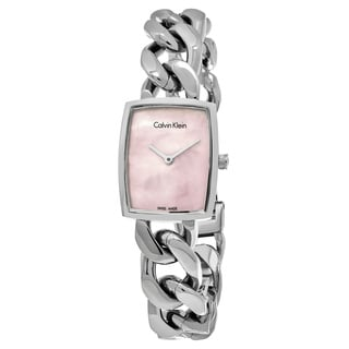 Calvin Klein Women's K5D2M12E 'Amaze' Pink Mother of Pearl Dial Stainless Steel Swiss Quartz Watch
