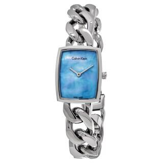 Calvin Klein Women's K5D2M12N 'Amaze' Blue Mother of Pearl Dial Stainless Steel Swiss Quartz Watch