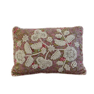 Nostalgia Home Victorian Crochet 14-Inches Wide x 20-Inches Long Decorative Throw Pillow