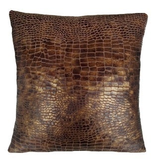 Fashion Street Croc Skin 16-inch Square Deco Throw Pillows (Set of 2)