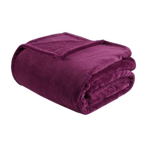 Intelligent Design Microlight Plush Oversized Blanket