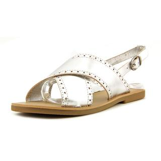 Lucky Brand Women's 'Birchess' Silver Leather Sandals