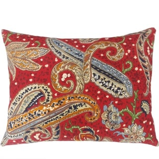 Fashion Street Paisley 15-inch by 20-inch Oblong Deco Throw Pillows (Set of 2)