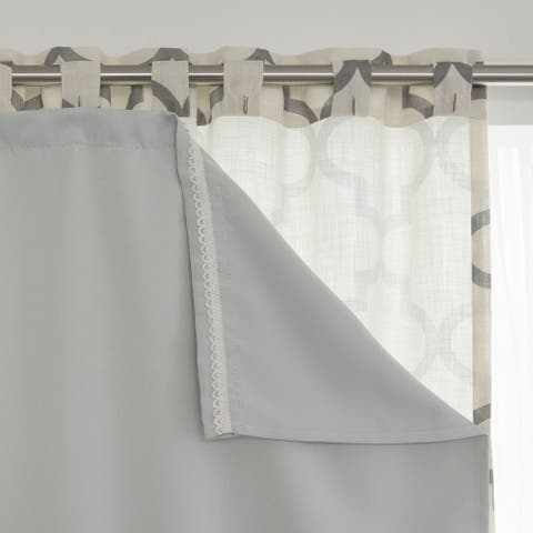 Aurora Home Blackout Curtain Liner Panel Pair