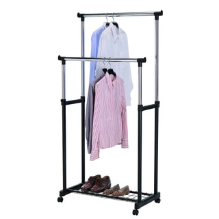 Silver Adjustable Garment Rack