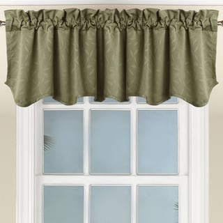 All Over Leaf Scalloped Tone-On-Tone Jacquard Valance