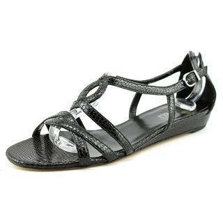 Vaneli Women's 'Blinny' Black Synthetic Sandals