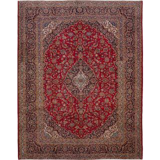 ecarpetgallery Hand-knotted Persian Kashan Red Wool Area Rug (9'9 x 12'5)