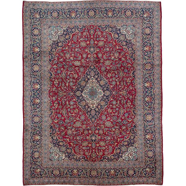 Hand Knotted Persian Isfahan Wool Area Rug: Shop Ecarpetgallery Hand-knotted Persian Kashan Red Wool