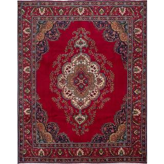 ecarpetgallery Hand-knotted Persian Tabriz Red Wool Area Rug (10'1 x 12'3)