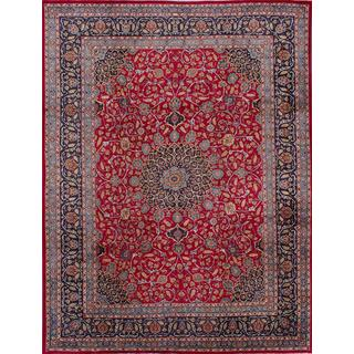 ecarpetgallery Hand-knotted Persian Classic Persian Red Wool Area Rug (9'8 x 12'9)