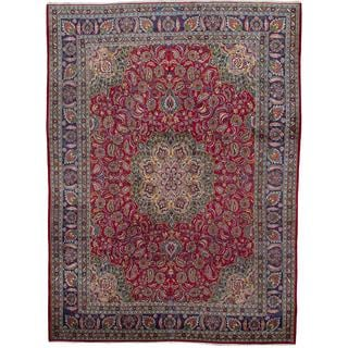 ecarpetgallery Hand-knotted Persian Classic Persian Red Wool Area Rug (9'10 x 13'1)