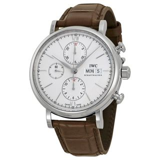 IWC Men's IW391007 'Portofino' Chronograph Automatic Brown Leather Watch