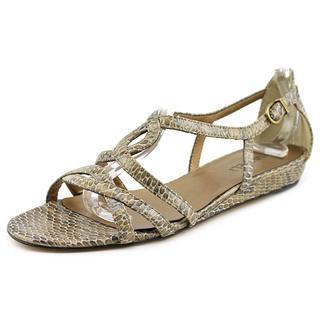 Vaneli Women's 'Blinny' Patent Tan Leather Sandals